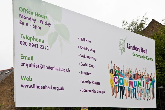 Linden Hall Sign