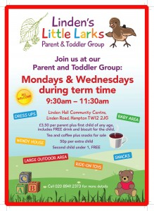 Linden's Little Larks - Parent & Toddler Group Mondays @ Linden Hall Community Centre | England | United Kingdom
